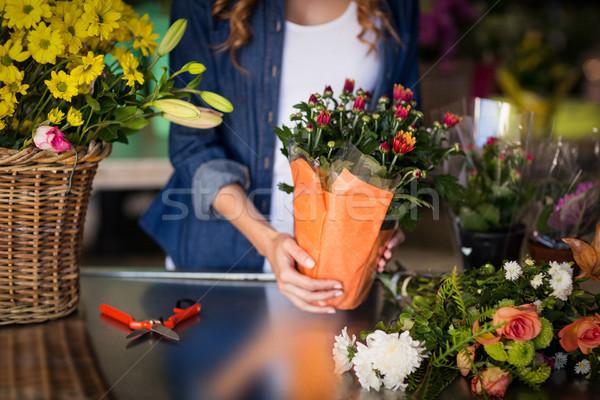 Kadın çiçekçi alışveriş kadın Stok fotoğraf © wavebreak_media