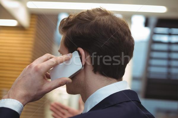 бизнесмен говорить мобильного телефона служба вид сзади человека Сток-фото © wavebreak_media