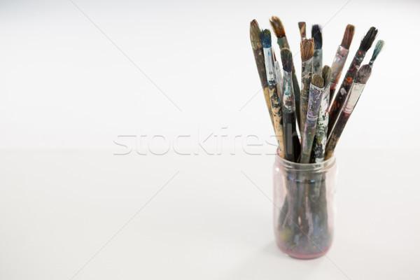 различный кисти банку древесины образование щетка Сток-фото © wavebreak_media