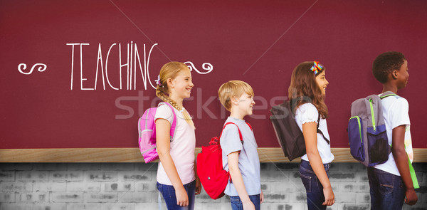 Stock photo: Teaching against red background