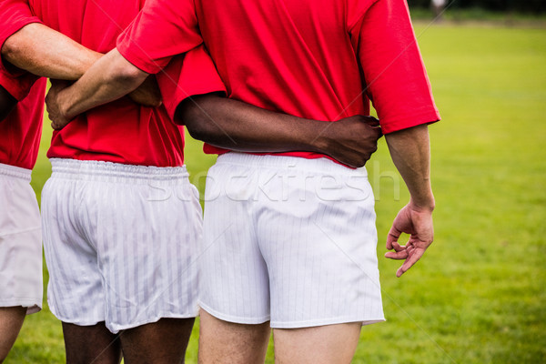 Rögbi játékosok áll együtt gyufa park Stock fotó © wavebreak_media