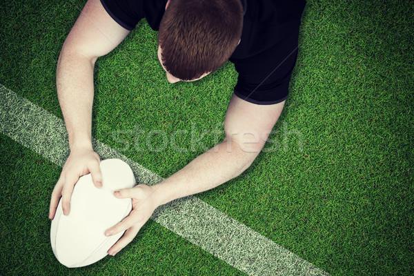 Imagem rugby jogador linha Foto stock © wavebreak_media