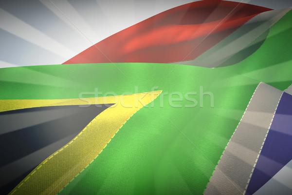összetett kép integet zászló Dél-Afrika lineáris Stock fotó © wavebreak_media
