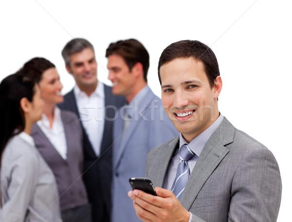 бизнесмен Постоянный отдельно команда белый Сток-фото © wavebreak_media
