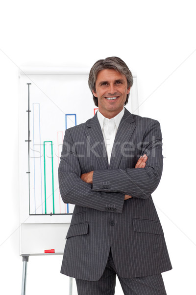 Charismatic mature businessman with folded arms  Stock photo © wavebreak_media