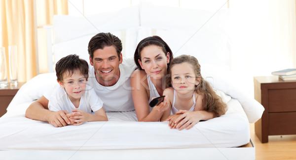 Cute siblings and their parents Stock photo © wavebreak_media