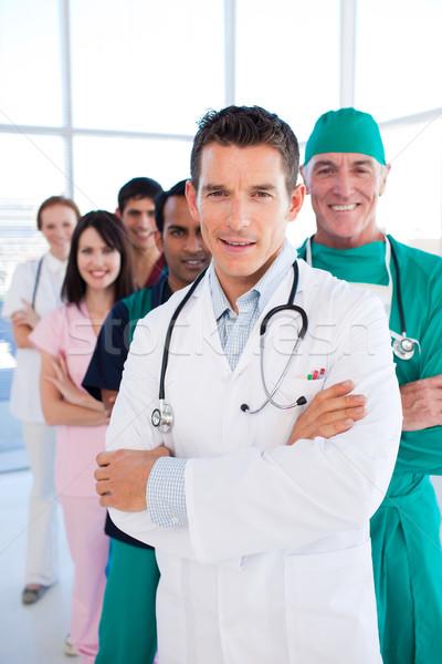 International medical group standing in a row Stock photo © wavebreak_media