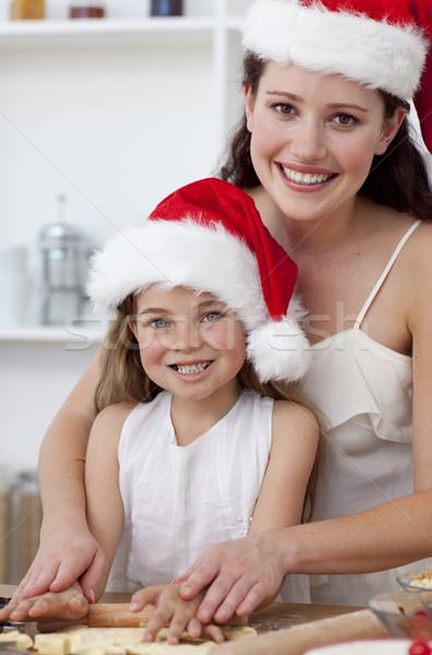 улыбаясь матери дочь Рождества торты Сток-фото © wavebreak_media