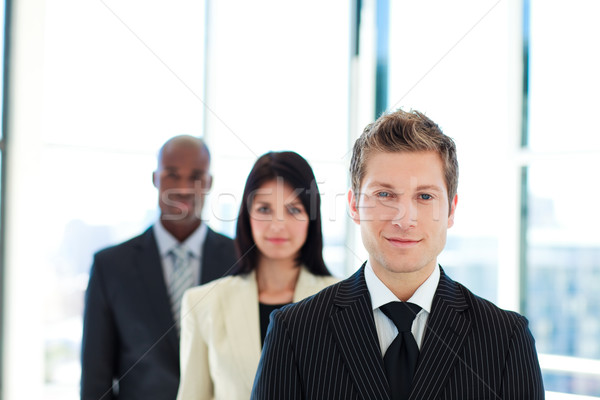 Young businessman leading his team  Stock photo © wavebreak_media