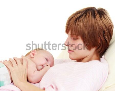 Mother looking at her newborn baby Stock photo © wavebreak_media