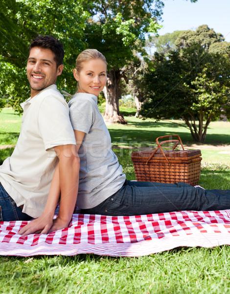 Amantes parque mulher família feliz saúde Foto stock © wavebreak_media