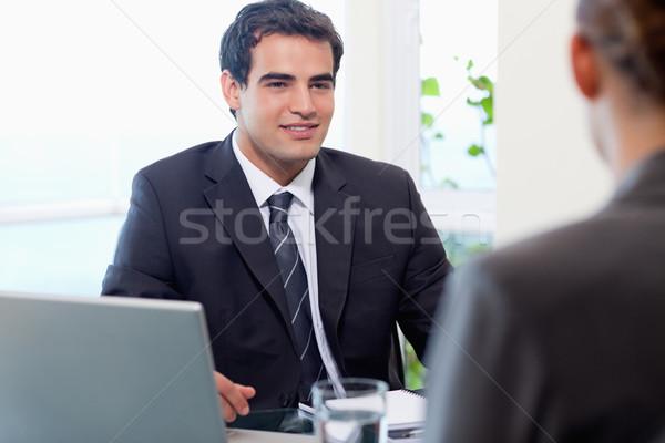 Jovem gerente feminino candidato escritório negócio Foto stock © wavebreak_media