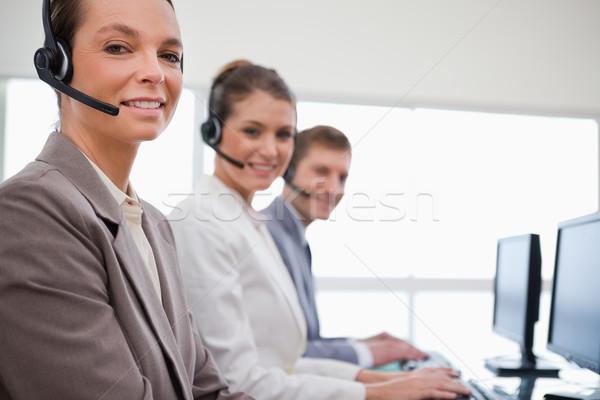 Side view of customer service team at work Stock photo © wavebreak_media