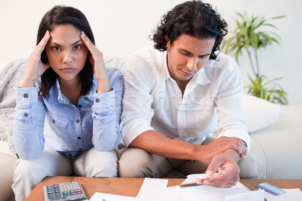 Young couple just found out they are broke Stock photo © wavebreak_media