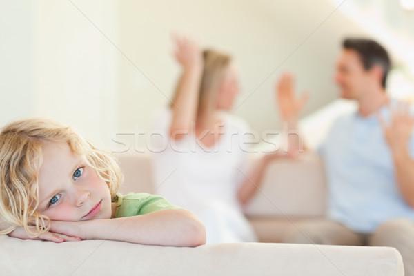 Triest jongen vechten ouders man home Stockfoto © wavebreak_media