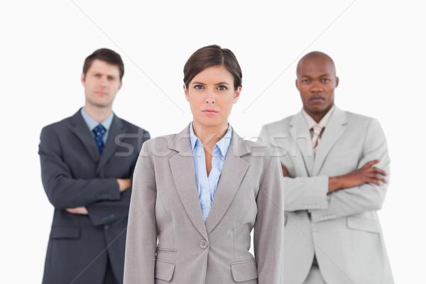 Permanente samen witte business zakenman Stockfoto © wavebreak_media