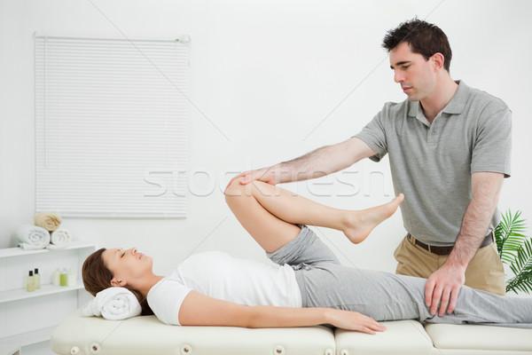 Nő hát nyújtott szoba férfi orvosi Stock fotó © wavebreak_media