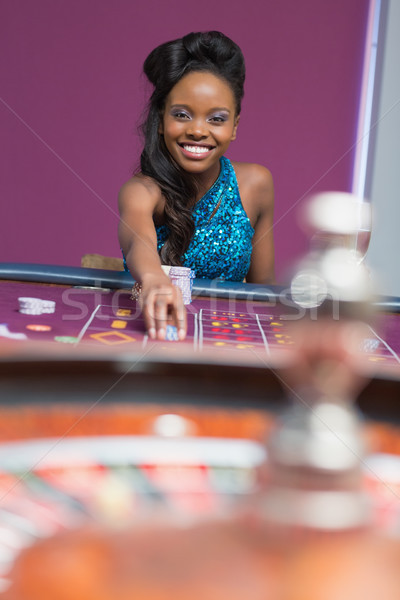 Woman playing roulette at a casino Stock photo © wavebreak_media
