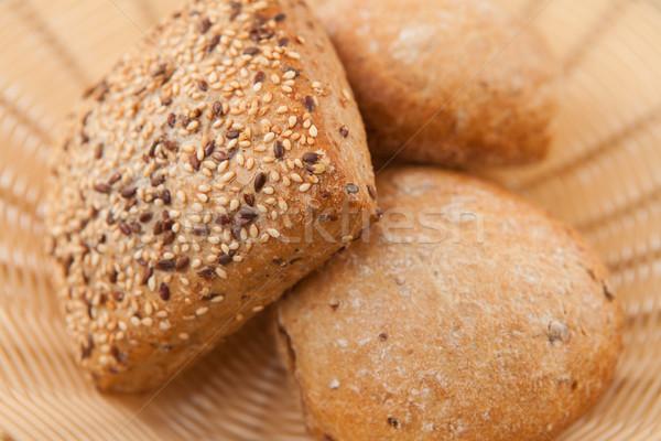 Wholemeal bread lying in wicker bowl  Stock photo © wavebreak_media