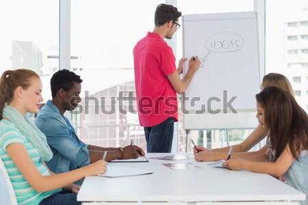 üzletember magyaráz grafikon iroda nő megbeszélés Stock fotó © wavebreak_media