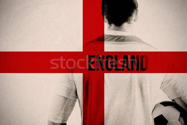 Composite image of england football player holding ball Stock photo © wavebreak_media