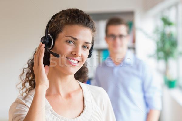 женщины обслуживание клиентов представитель гарнитура портрет Сток-фото © wavebreak_media