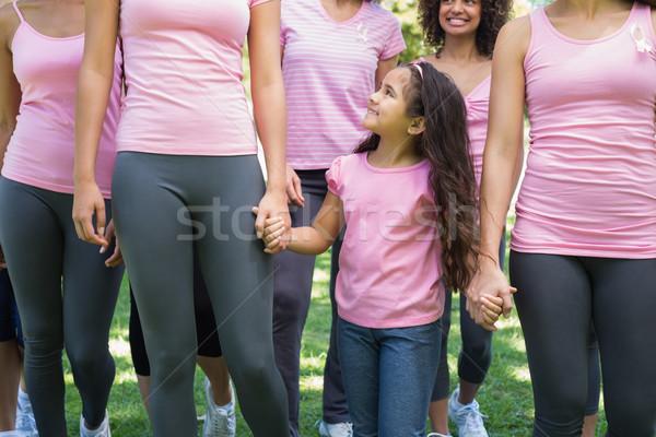 Females participating in breast cancer awareness Stock photo © wavebreak_media