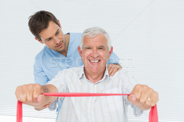 Masculino senior de volta médico escritório Foto stock © wavebreak_media