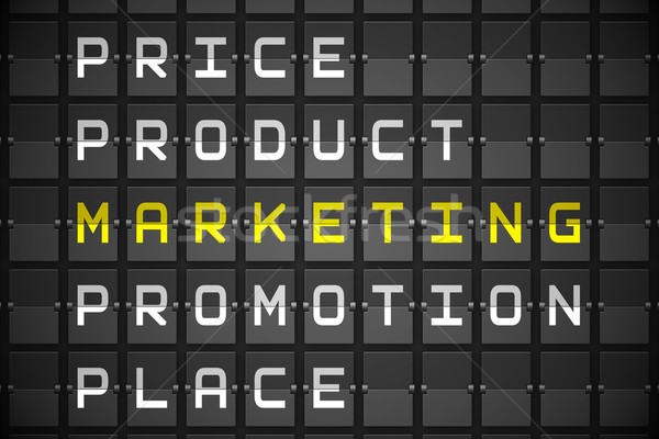 Marketing buzzwords on black mechanical board Stock photo © wavebreak_media