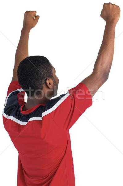 возбужденный красивый футбола вентилятор белый Сток-фото © wavebreak_media