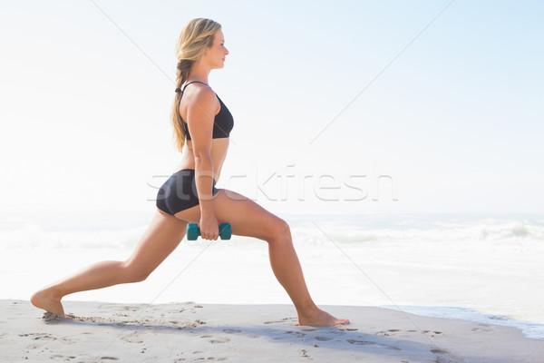 Caber praia corpo mar Foto stock © wavebreak_media
