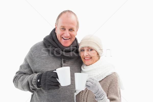 Mutlu olgun çift kış elbise Stok fotoğraf © wavebreak_media