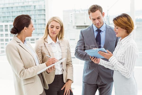 Colegas reunión oficina jóvenes negocios traje Foto stock © wavebreak_media