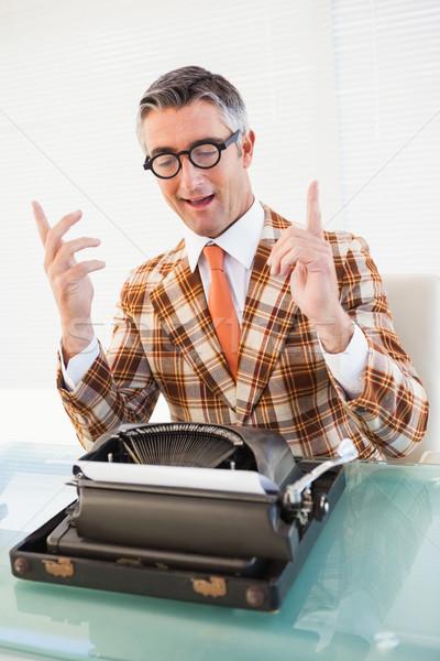 幸せ ヴィンテージ 男 眼鏡 オフィス ストックフォト © wavebreak_media