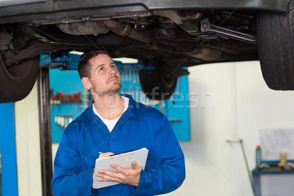 механиком автомобилей гаража Дать Сток-фото © wavebreak_media