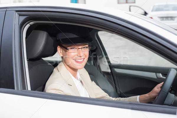 Autista sorridere fotocamera auto donna felice Foto d'archivio © wavebreak_media