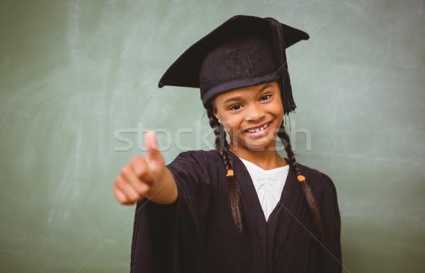 Menina graduação robe retrato Foto stock © wavebreak_media
