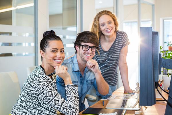 Professional designers working on computer Stock photo © wavebreak_media