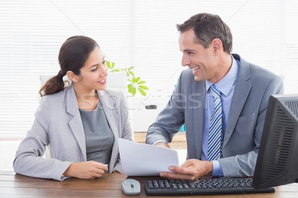 Business partners working together Stock photo © wavebreak_media