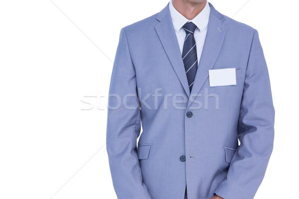 Widoku biznesmen kurtka biały człowiek Zdjęcia stock © wavebreak_media