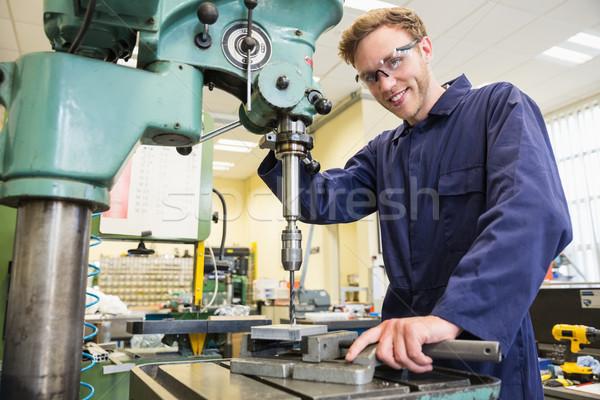 Mérnöki diák nagy fúró egyetem iskola Stock fotó © wavebreak_media