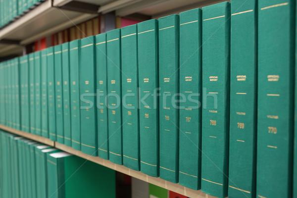 étagère à livres bibliothèque livre école éducation Photo stock © wavebreak_media