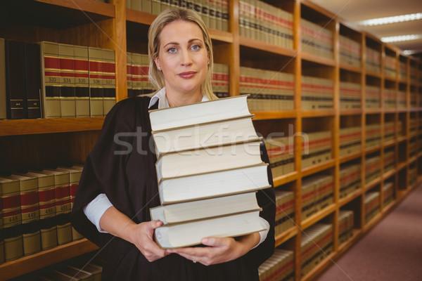 Advogado pesado livros em pé Foto stock © wavebreak_media
