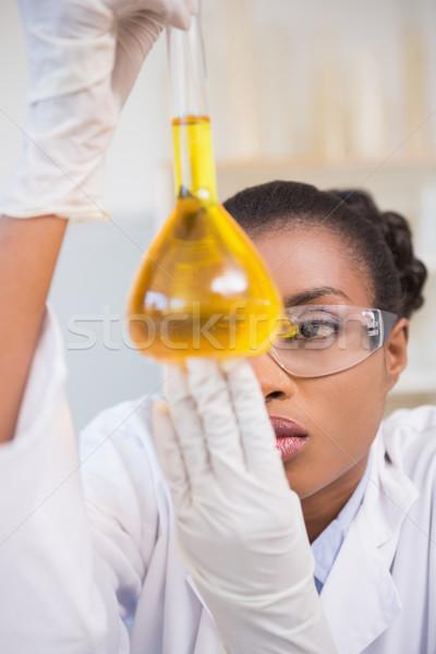 科学 調べる 皿 オレンジ 流体 ストックフォト © wavebreak_media