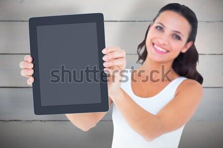 красивой брюнетка фото женщины улыбаясь Сток-фото © wavebreak_media