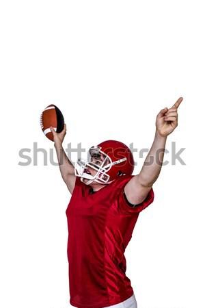 триумф американский футболист черный спорт красный Сток-фото © wavebreak_media