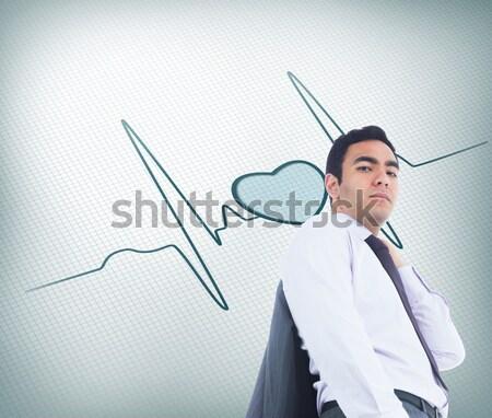 Personal trainer handdruk portret sport gezondheid sport Stockfoto © wavebreak_media