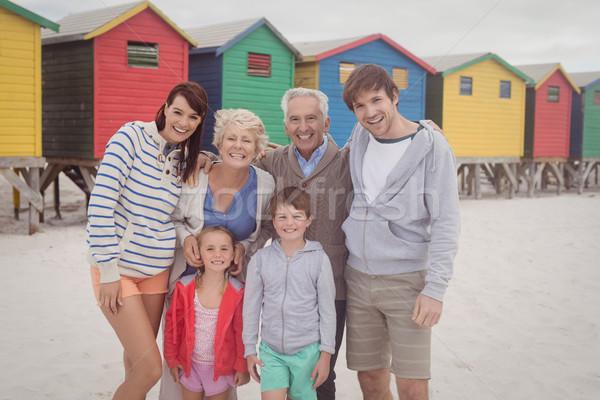 Portrait of multi-generation family at beach Stock photo © wavebreak_media