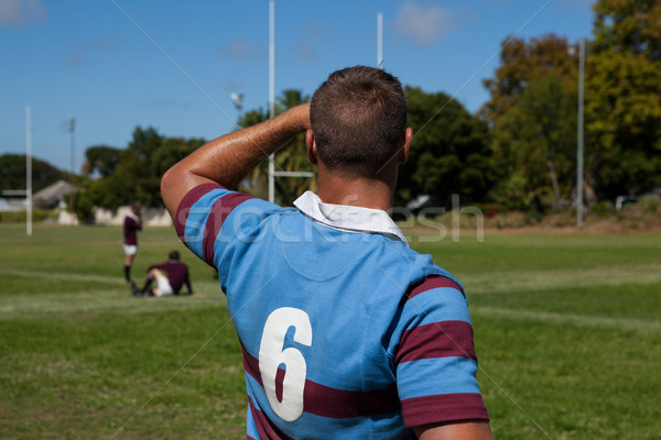 Rear view of rugby player at playing field Stock photo © wavebreak_media