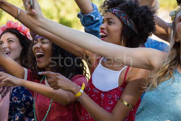 Grupy kobiet znajomych festiwal muzyczny parku Zdjęcia stock © wavebreak_media